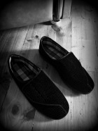 Grandpa slippers BW